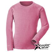 PolarStar 中性 圓領刷毛保暖衣『深粉紅』 P18207 戶外│休閒│登山│露營│機能衣│刷毛衣