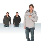 【SAMLIX 山力士】男 個性品味羽絨外套(#63512灰色.灰綠色.黑色)