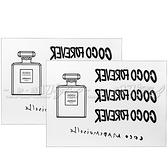 【VT薇拉寶盒】CHANEL 香奈兒 摩登COCO身體轉印貼紙*2