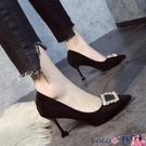 熱賣高跟鞋 大東高跟鞋女2021年新款鞋子女春款細跟尖頭淺口單鞋女職業工作鞋【618 狂歡】