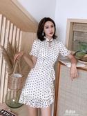 旗袍洋裝夏季改良新款式波點旗袍年輕款少女短款小個子連衣裙性感日常YYJ 易家樂