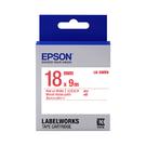 EPSON LK-5WRN C53S655402 一般系列白底紅字標籤帶 寬度18mm