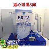(限量促銷到1月20) (含2組8周用濾心) Brita濾水壺 (3500CC) 圓形濾心