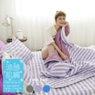 COOL涼感平單式5尺雙人針織涼墊+涼枕墊三件組-紫(台灣製)保潔墊|TTRI涼感測試|SGS檢驗