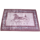 CELINE經典馬車鎖鏈LOGO保暖絨毛毯(粉紫色)084101-2