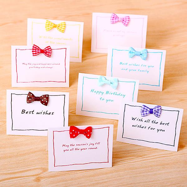 【BlueCat】Ninge立體糖果小蝴蝶結祝福話框迷你卡片 賀卡 萬用卡