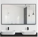 促銷 鋁合金浴室鏡子洗手間衛生間廁所化妝鏡子貼牆壁掛玻璃酒店衛浴鏡