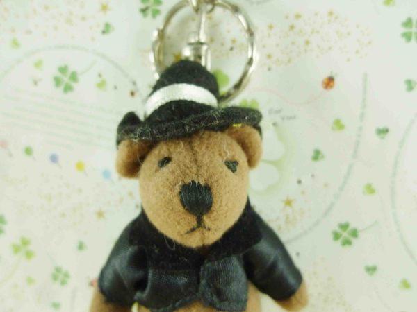 【震撼精品百貨】泰迪熊_Teddy Bear~絨毛鎖圈-黑禮服