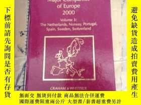 二手書博民逛書店Major罕見Companies of Europe 2000.