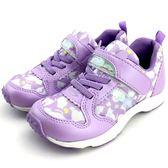 《7+1童鞋》日本月星    MOONSTAR    魔鬼氈  透氣  機能  運動鞋  C433   紫色