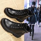 馬丁靴女英倫風2020年新款潮ins秋冬厚底瘦瘦短靴百搭春秋單靴子