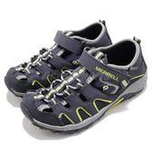 Merrell 戶外鞋 ML-B H2O Hiker 運動鞋 越野 登山 藍 灰 休閒鞋 涼拖鞋 童鞋 中童鞋【PUMP306】 MC54859