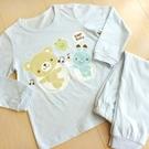 GMP BABY 舒適柔軟熊兔睡衣組~藍(衣+褲)