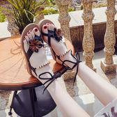 夏新款韓版羅馬平底學生防滑夾趾簡約夾腳百搭沙灘女涼鞋 貝兒鞋櫃 全館免運