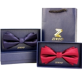 領結 雙折紅色領結男結婚婚禮新郎高檔伴郎兄弟團黑色西裝英倫風蝴蝶結 歐歐