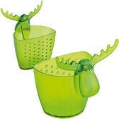 《KOZIOL》麋鹿掛式濾茶器(透綠)