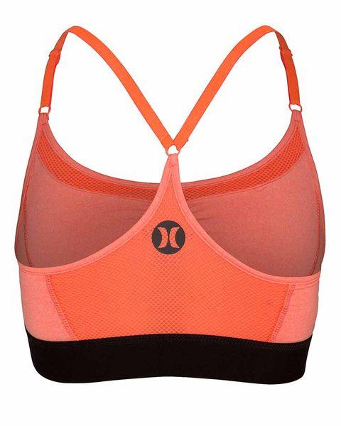 HURLEY 女 X Nike Dri-FIT 科技DRI-FIT MESH RACER BRA Beach Active-內搭上衣 (麻花/淺橘)