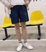 找到自己 MD 時尚 男 潮 休閒 純色 多口袋 金屬圓環裝飾 休閒短褲 五分褲