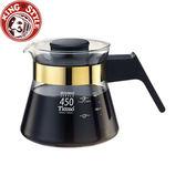 金時代書香咖啡 Tiamo 玻璃咖啡壺450cc 金色 電木把手 HG2205BK