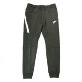 Nike Nsw 男款軍綠色縮口褲長褲棉褲-NO.805163356