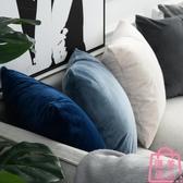 抱枕套沙發靠墊天鵝絨枕頭套腰靠枕墊床頭靠背墊【匯美優品】
