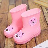 萬聖節大促銷 兒童雨鞋女童可愛卡通四季通用雨靴男童中小童防滑防水鞋加絨保暖