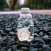 可愛透明玻璃杯便攜水瓶正韓創意帶蓋隨手杯子女學生正韓情侶水杯限時八九折