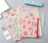文件夾 A4透明拉鍊可愛文件袋 學生資料夾文具收納袋 韓國小清新塑料包女 第六空間