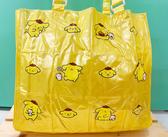 【震撼精品百貨】Pom Pom Purin 布丁狗~Sanrio 布丁狗充氣防水手提包/透明防水包-黃布丁#87935