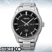 SEIKO 精工手錶專賣店 SNE363P1 男錶 太陽能錶 不鏽鋼錶殼錶帶 礦物玻璃鏡面 生活防水100米 日期星期