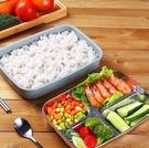 保溫飯盒 日式不銹鋼保溫飯盒便當小學生便攜餐盒套裝分隔型【快速出貨八折搶購】