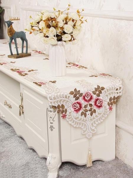 桌旗 電視櫃桌布長方形茶幾桌旗現代簡約北歐床旗梳妝台鞋櫃桌布