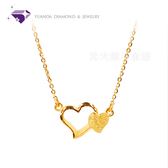 【元大鑽石銀樓】『甜蜜』黃金項鍊、純金套鍊-純金9999國家標準