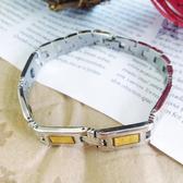 (特價) 金銀齊心 素面不鏽鋼手鍊 鋼飾