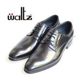 Waltz-素面百搭紳士德比鞋612039-02(黑)