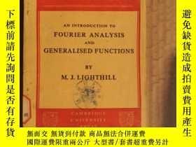 二手書博民逛書店an罕見introduction to fourier analyse and generalised funct