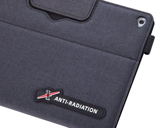 X iPAD mini 4 SLEEVE   防電磁波可立式潑水平板保護套 (織布紋鐵灰黑)