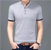 韓版 紳士風 修身立領短袖POLO衫《P1057》