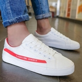 冬季帆布鞋男韓版百搭休閒潮鞋學生低筒黑白色板鞋進度潮流布鞋潮 超值價
