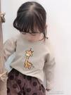 女童上衣T恤 女童長袖t恤純棉春秋款洋氣薄款中小童女寶寶打底衫上衣兒童 快速出货
