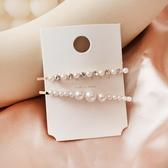 韓系少女氣質髮夾 大珍珠 2入組 髮飾 邊夾 碎髮夾