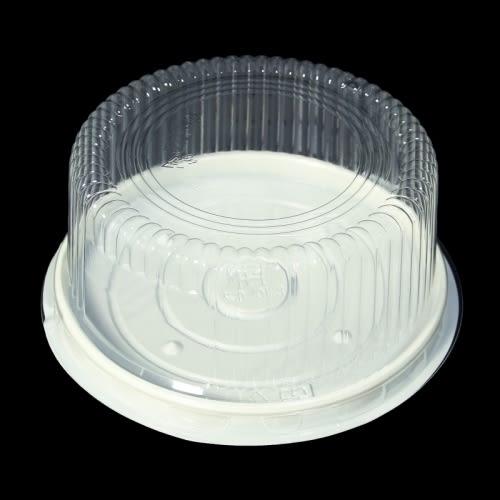 5入 6吋 自扣盒 塑膠蛋糕盒 圓形蛋糕盒 塑料盒 蛋糕保鮮盒 蛋糕盒 古早味蛋糕 起司蛋糕 6寸盒