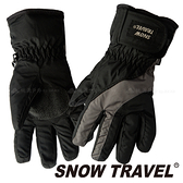 【SNOW TRAVEL 雪之旅】兒童防水羽毛手套『黑』2020020 兒童保暖手套 │ 防水手套 │羽絨內裡手套
