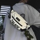 斜背包潮流ins運動小背包女男士胸包反光側背包嘻哈個性學生腰包(商品不帶掛件) 黛尼時尚精品