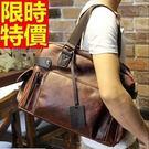 手提旅行包有型大方-橫款方型時尚皮革肩背男包包64y3【巴黎精品】