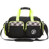 旅行袋 金安德森 跳躍時空  機能雙口袋手提旅行袋(中款)-時尚黑
