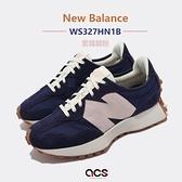 New Balance 休閒鞋 327 女鞋 藍 粉 焦糖底 大N 紐巴倫 NB【ACS】 WS327HN1-B