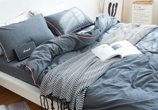 全棉針織毛線毯 流蘇沙發蓋毯【潮咖範兒】