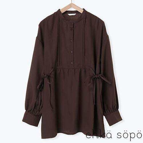 「Hot item」側綁結束腰前排扣長袖上衣 (提醒 SM2僅單一尺寸) - Sm2