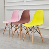 現代簡約餐椅家用化妝靠背凳子伊姆斯北歐洽談辦公椅子實木書桌椅 中秋節全館免運